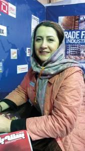 نیلوفر پنکار نماینده شرکت نمایشگاهی دوسلدورف در ایران