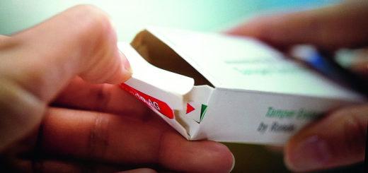 بهعنوان حفاظت از جعل، پانچ بر روی جعبه تاشو بهوضوح نشان میدهد که چه زمانی بسته باز شدهاست