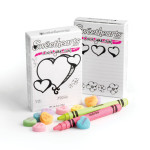 THE NEW ENGLAND CONFECTIONERY COMPANY (NECCO) COLOR YOUR OWN SWEETHEARTS