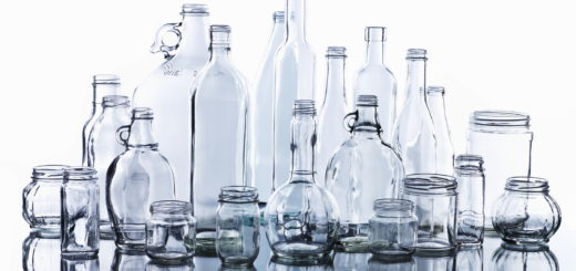 Collection of various glass bottles and jars